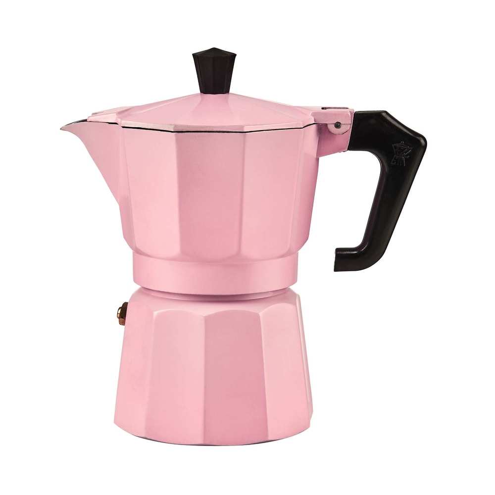 ESPERTO Kávovar pro 3 šálky - pastelově růžová