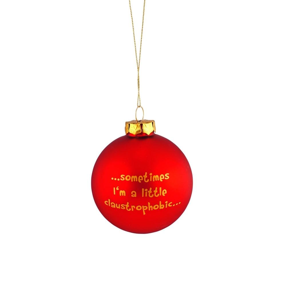 """NAUGHTY BAUBLES Vánoční koule """"Sometimes"""""""