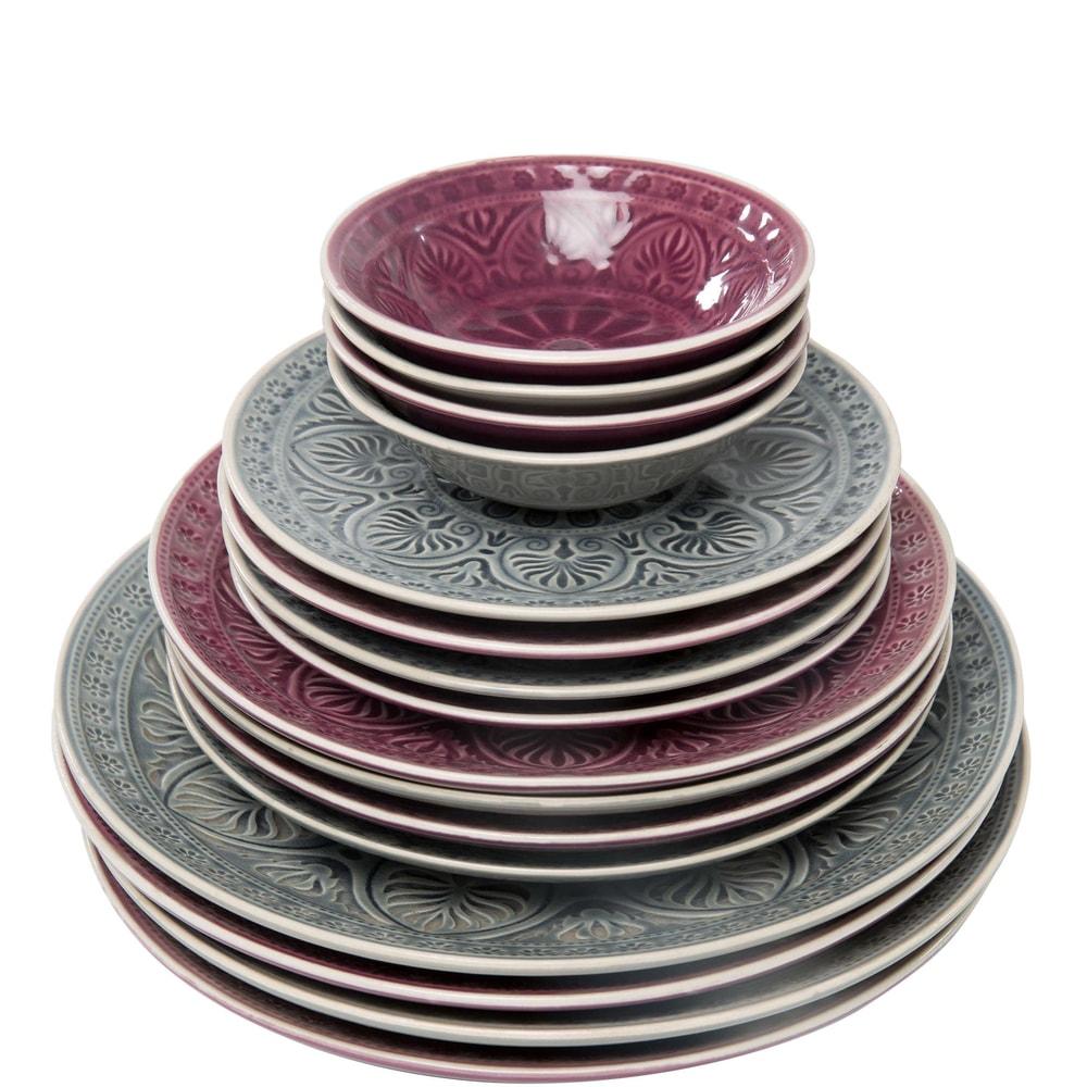 Produktové foto SUMATRA Talíř 25 cm - fialová