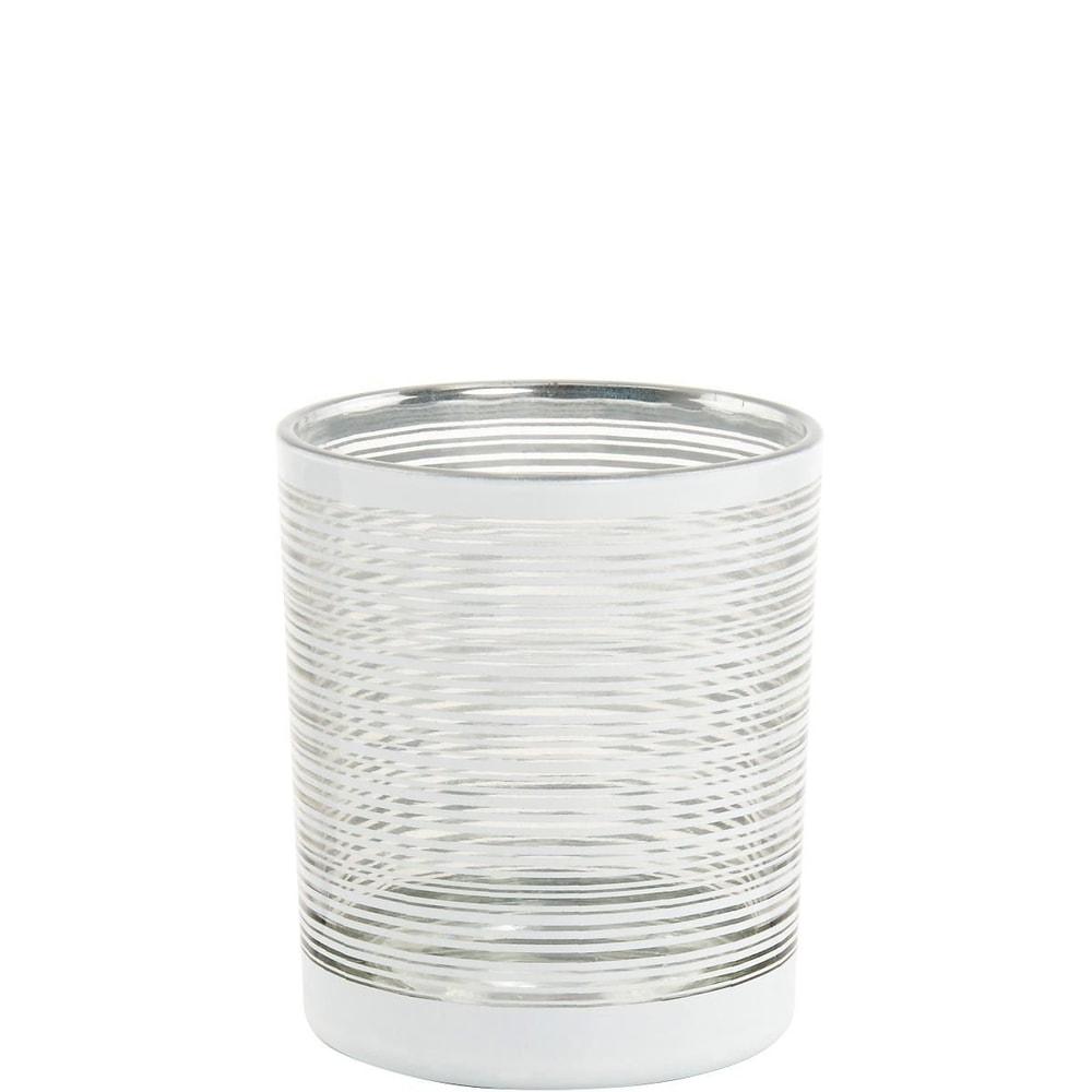 DELIGHT Svícen 10 cm - stříbrná