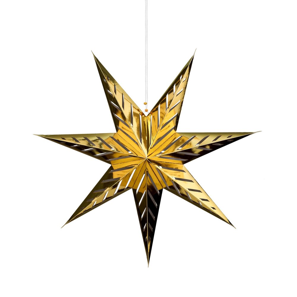 LATERNA MAGICA Papírová dekorační hvězda 60 cm - zlatá