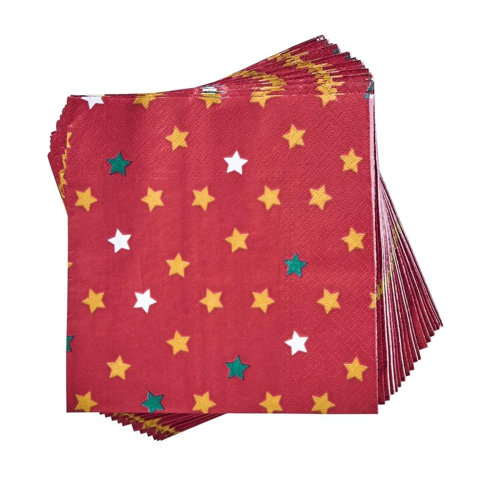 Produktové foto APRÉS Papírové ubrousky hvězdy 20 ks