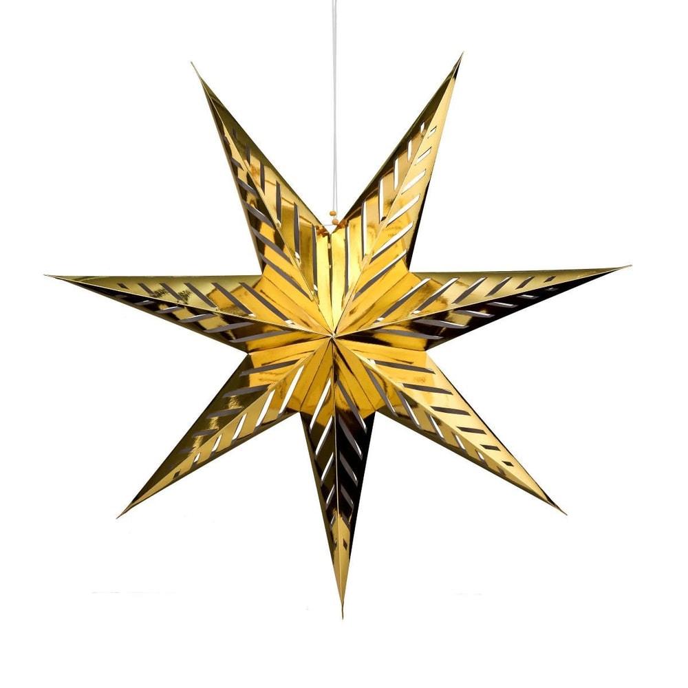 LATERNA MAGICA Papírová dekorační hvězda 80 cm - zlatá