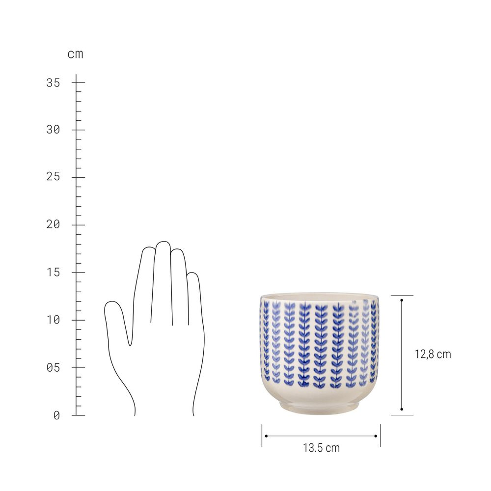 Produktové foto DELFT Květináč 13,5 cm