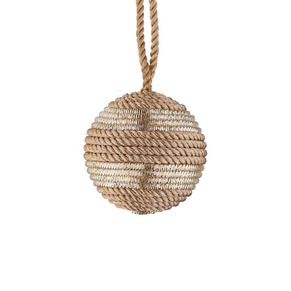 HANG ON Vánoční koule z lurexu se třpytkami 6 cm