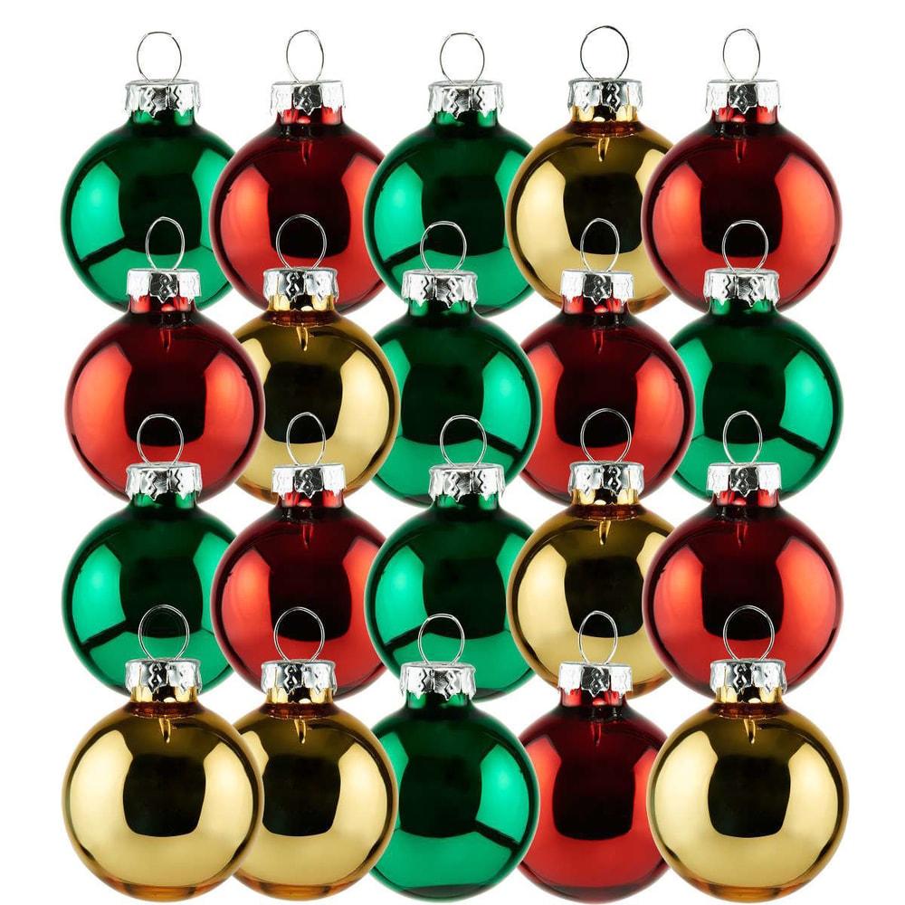 HANG ON Vánoční koule mini set 20 ks - červená