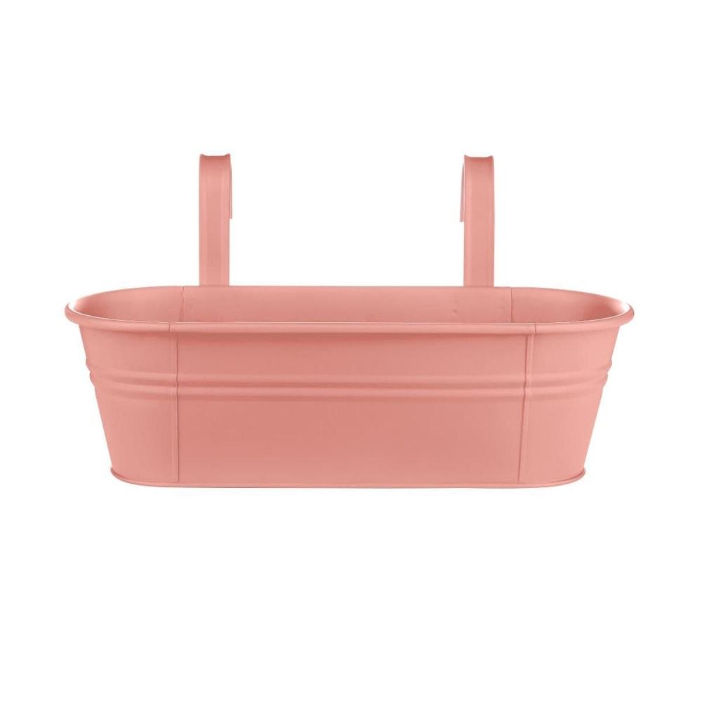 ZINC Závěsný truhlík pro 3 rostliny 50 cm - pastelově oranžová