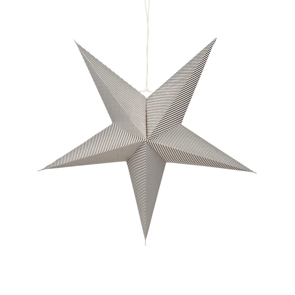 Produktové foto LATERNA MAGICA Papírová dekorační hvězda 60 cm - černá/bílá