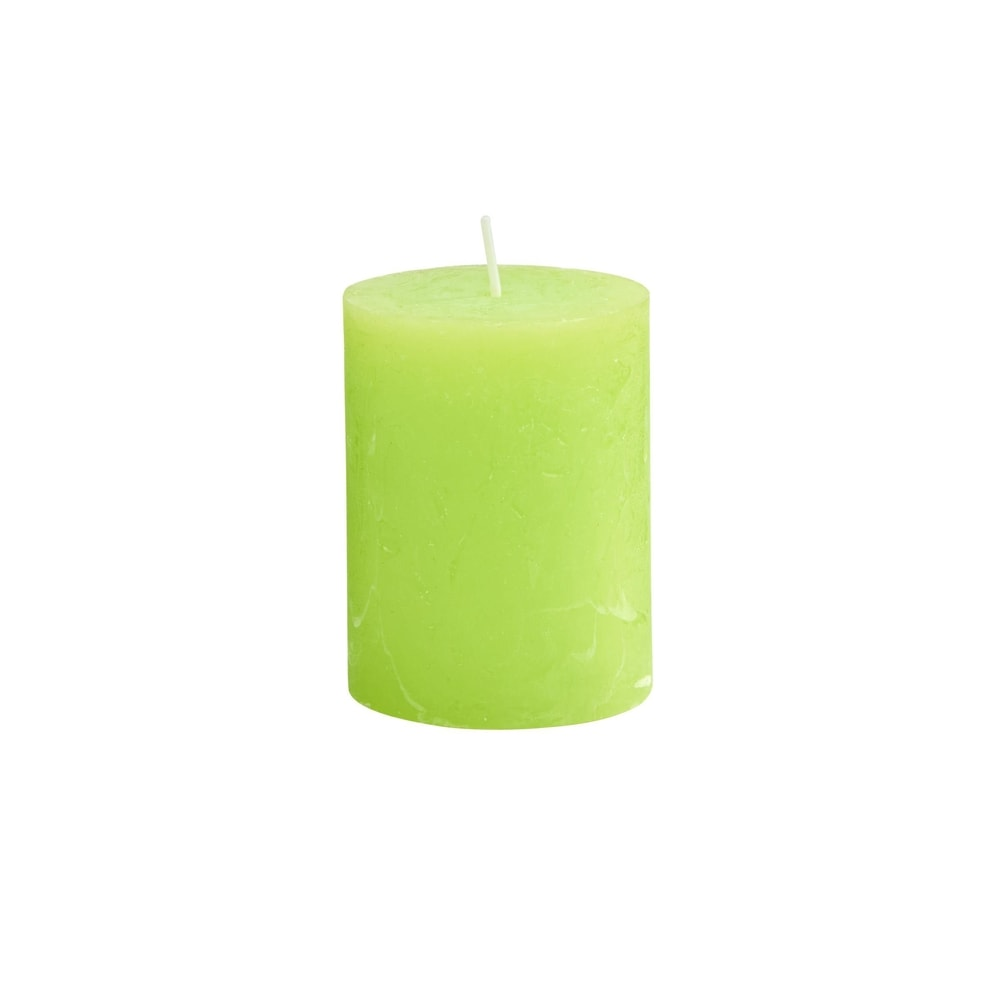 RUSTIC Svíčka 9 cm - sv. zelená
