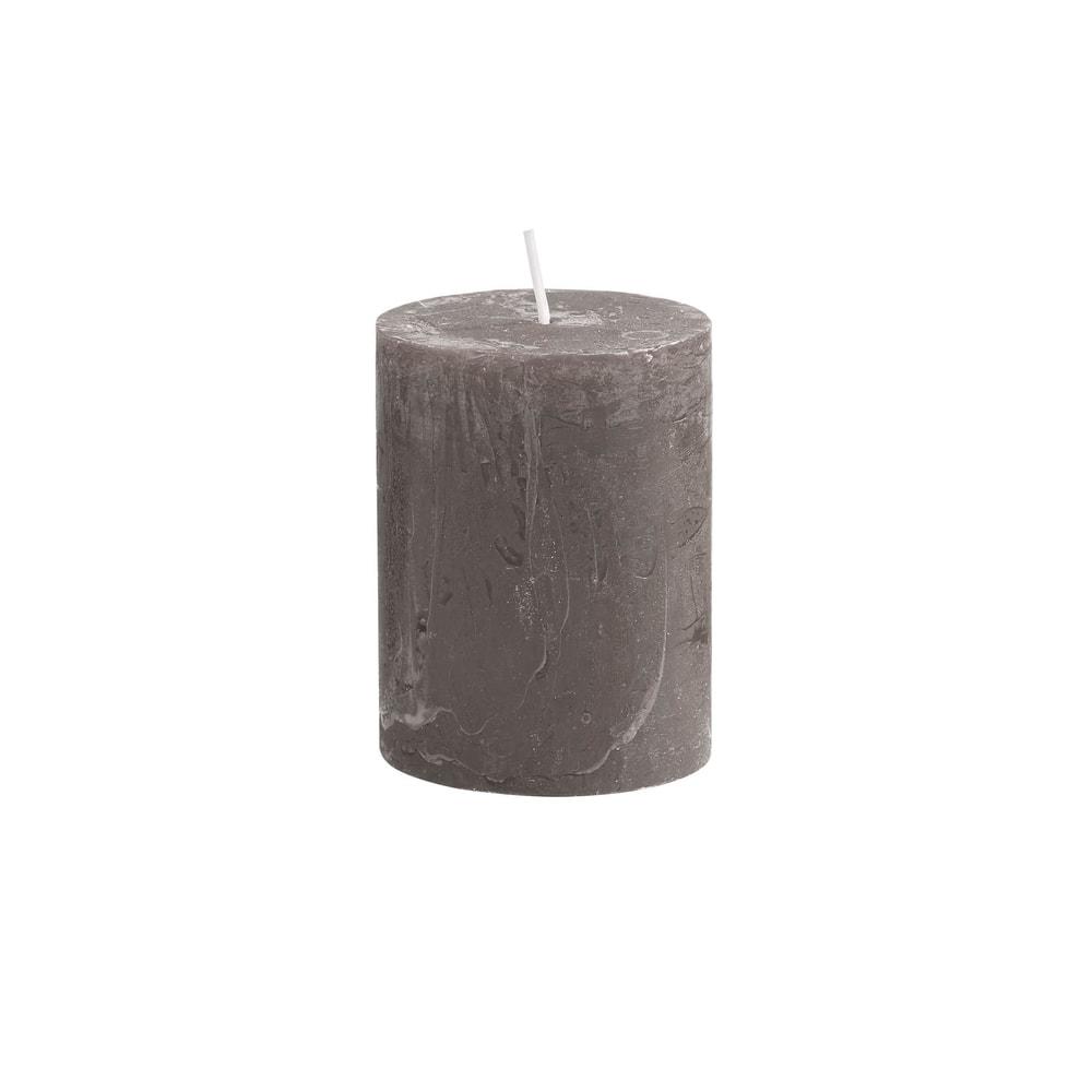 RUSTIC Svíčka 9 cm - šedohnědá
