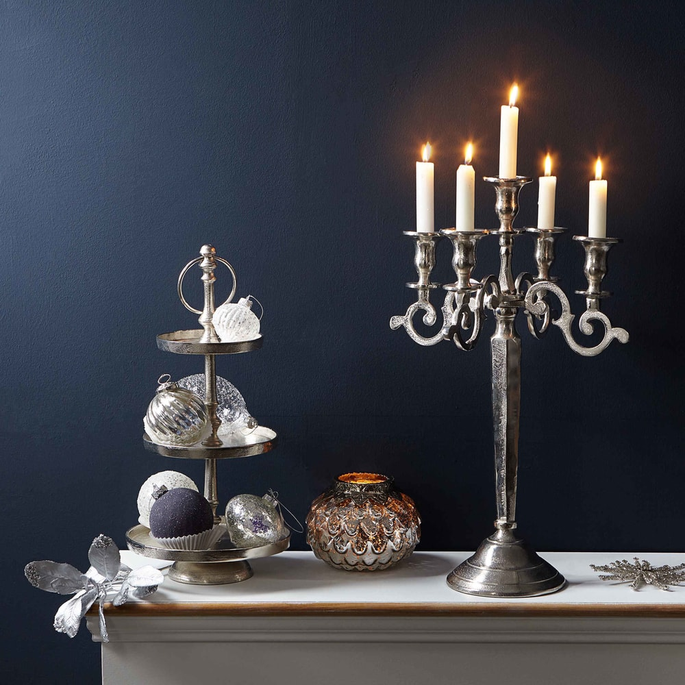 Produktové foto SILVER CONE Svícen na čajovou svíčku 9 cm