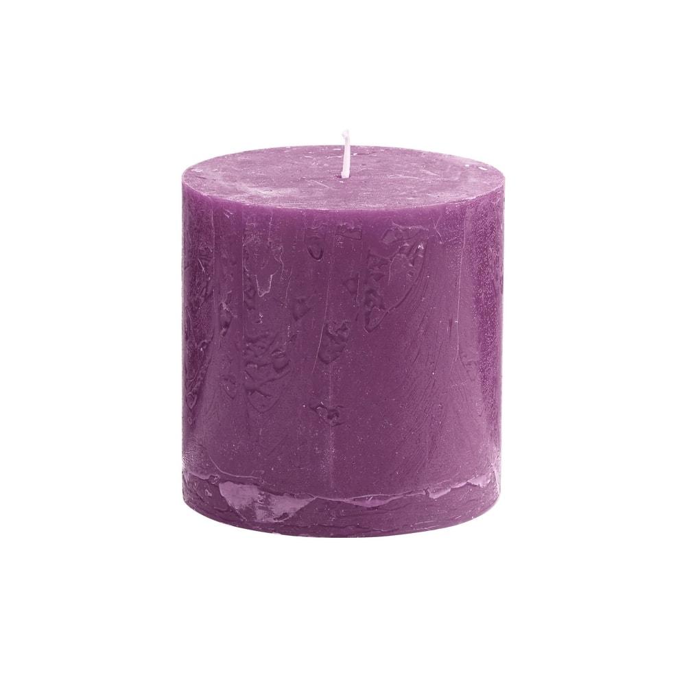 RUSTIC Svíčka 10 cm - fialová