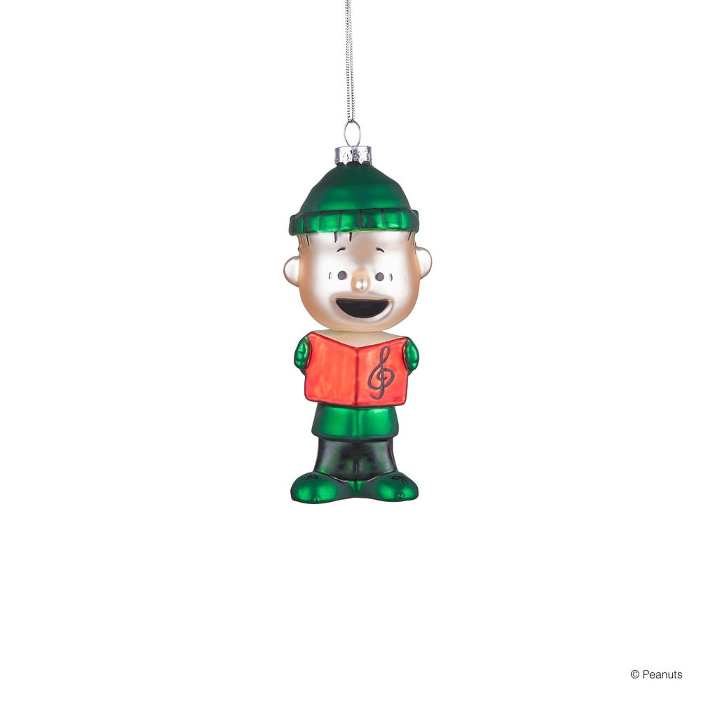 PEANUTS Skleněná ozdoba zpěvák Linus