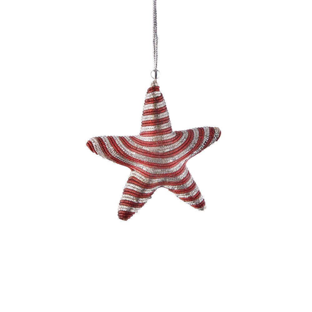 HANG ON Sada vánočních ozdob hvězdy 4 ks