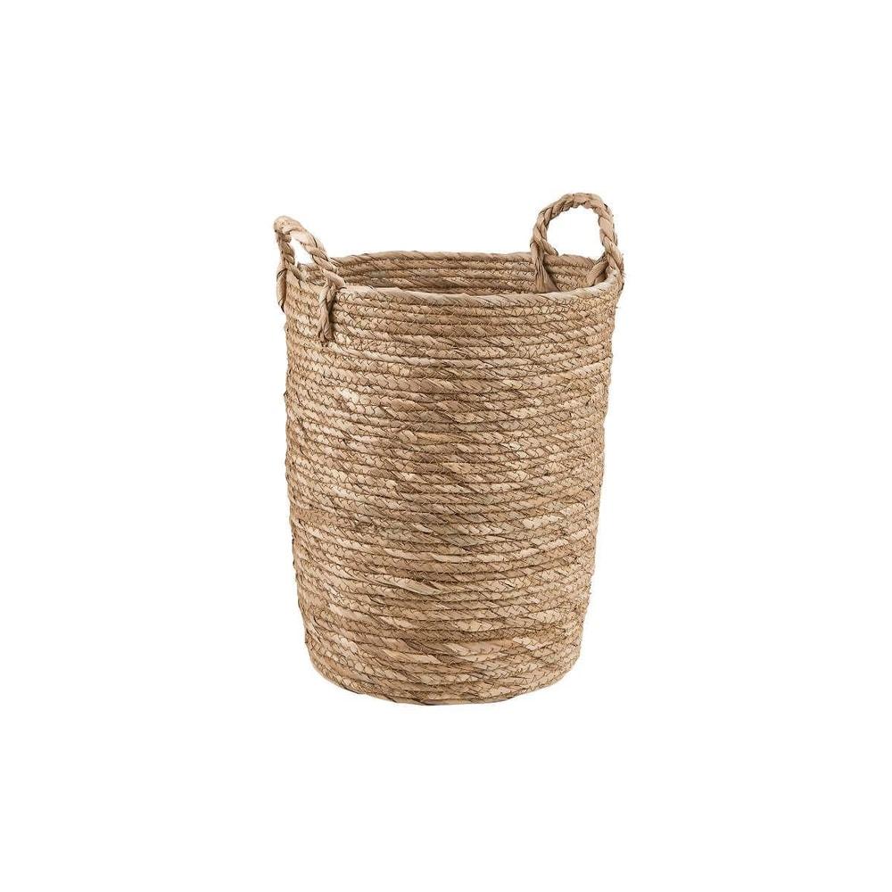 RUSH ROPE Odkládací koš kulatý 27 cm - přírodní