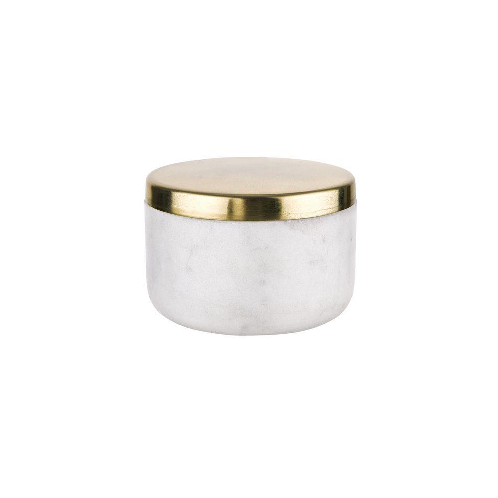 MARBLE Dóza se zlatým víkem 150 ml