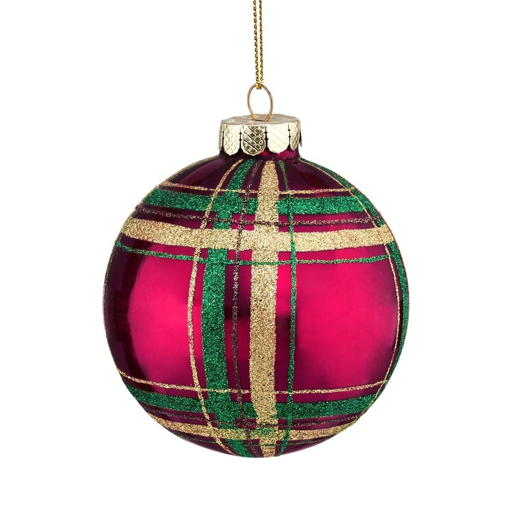 HANG ON Vánoční koule károvaná