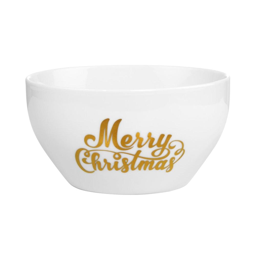 Produktové foto WHITE XMAS Miska Merry Christmas