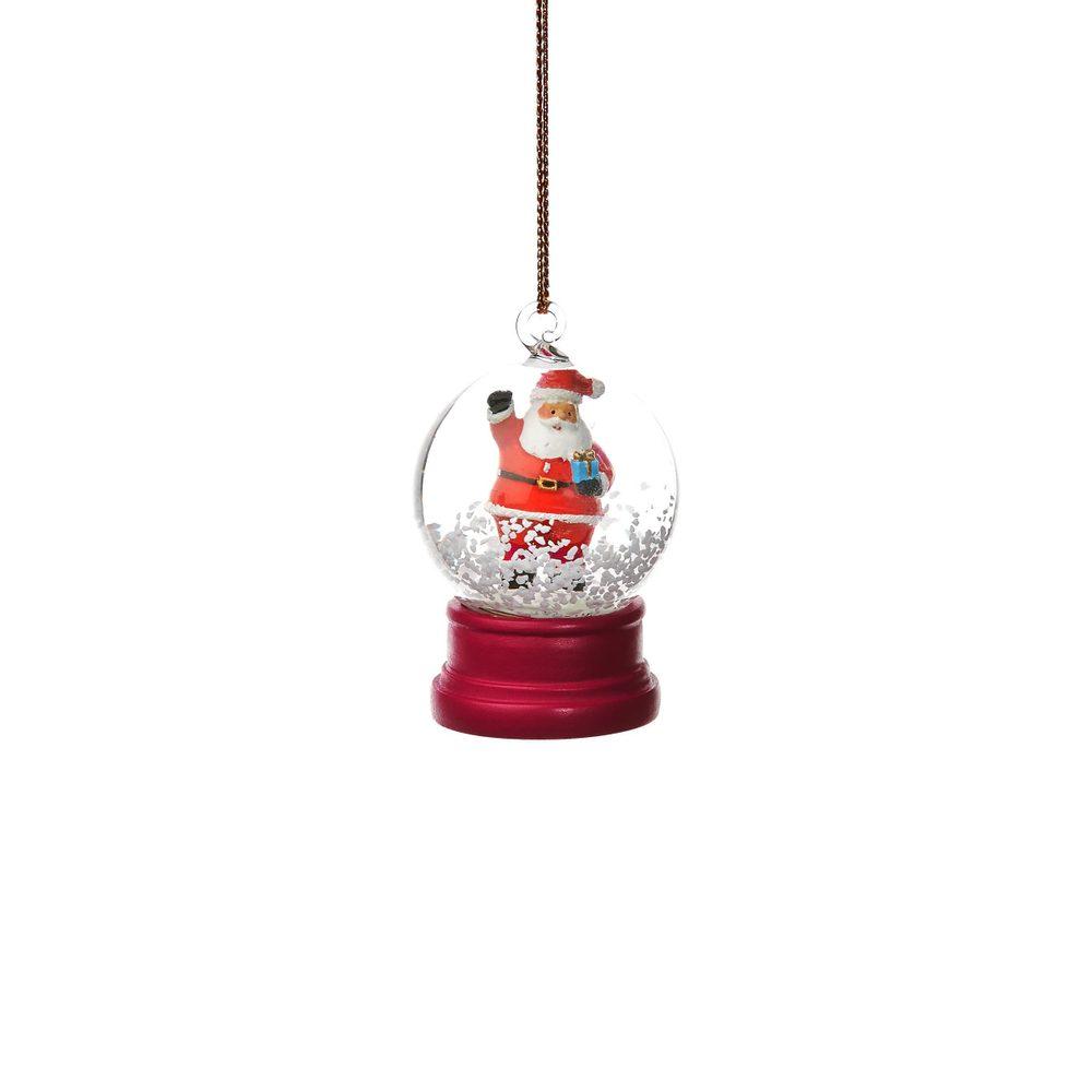 HANG ON Ozdoba sněhová koule Santa