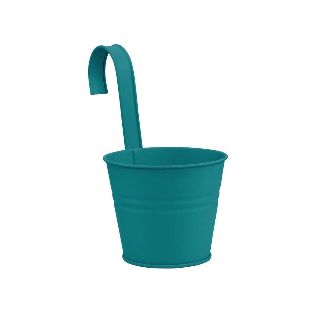 ZINC Závěsný květináč 13 cm - petrolejová