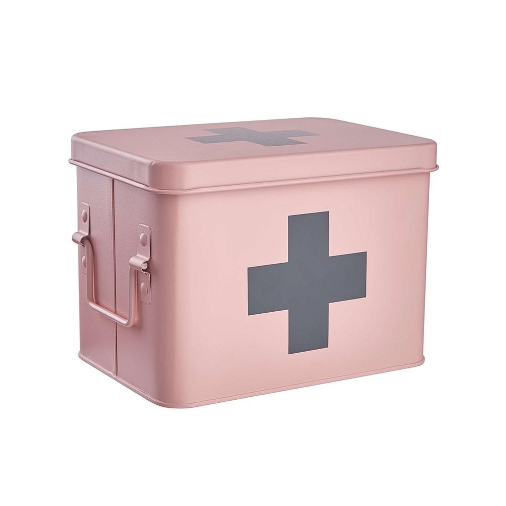 MEDIC Box na léky - sv. růžová