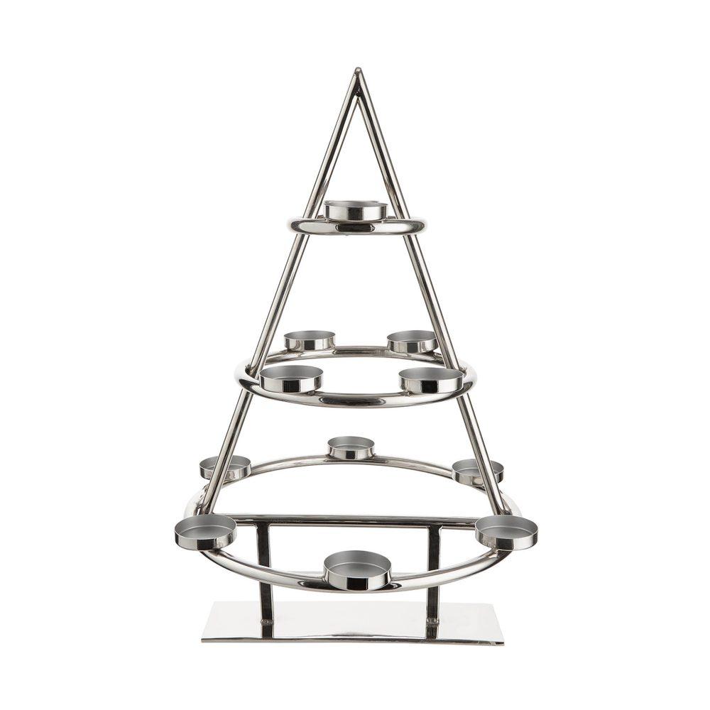 X-MAS Kovový vánoční stromek s 12 svícny