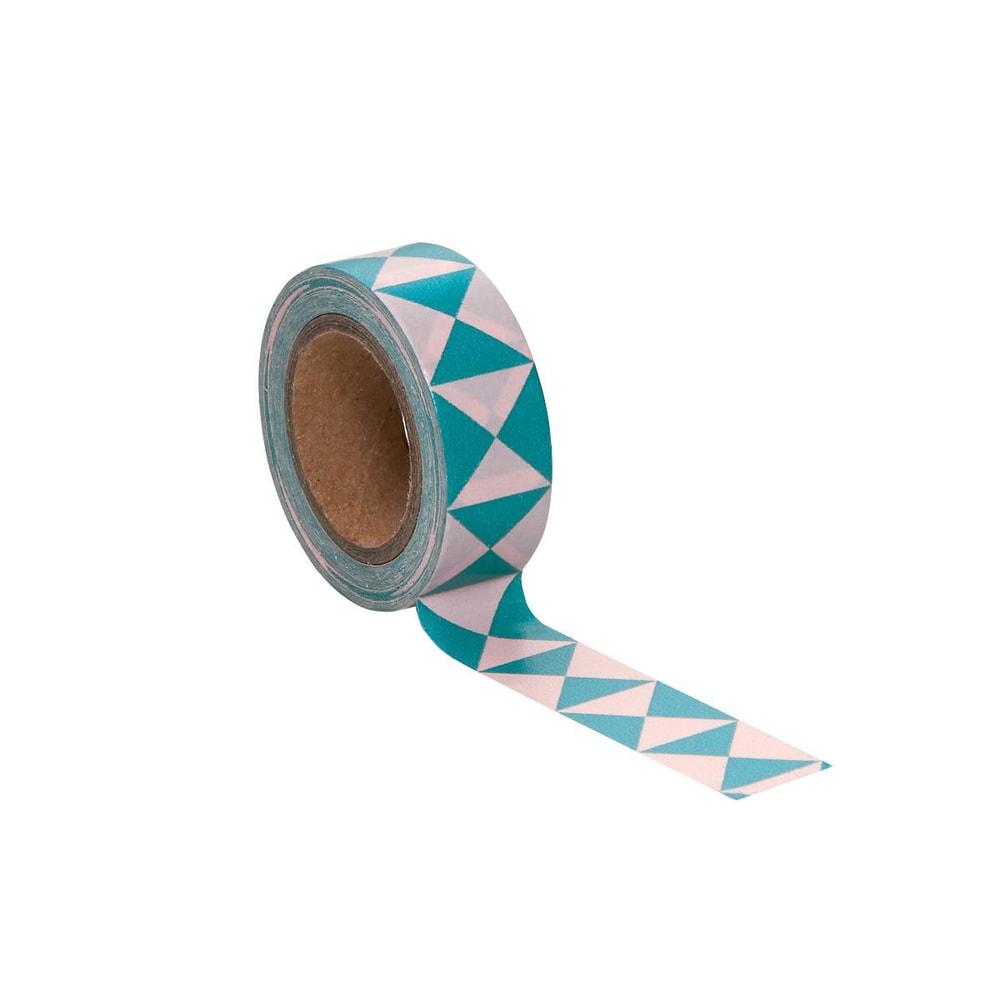 TAPE Lepicí páska grafický vzor - růžová/modrá