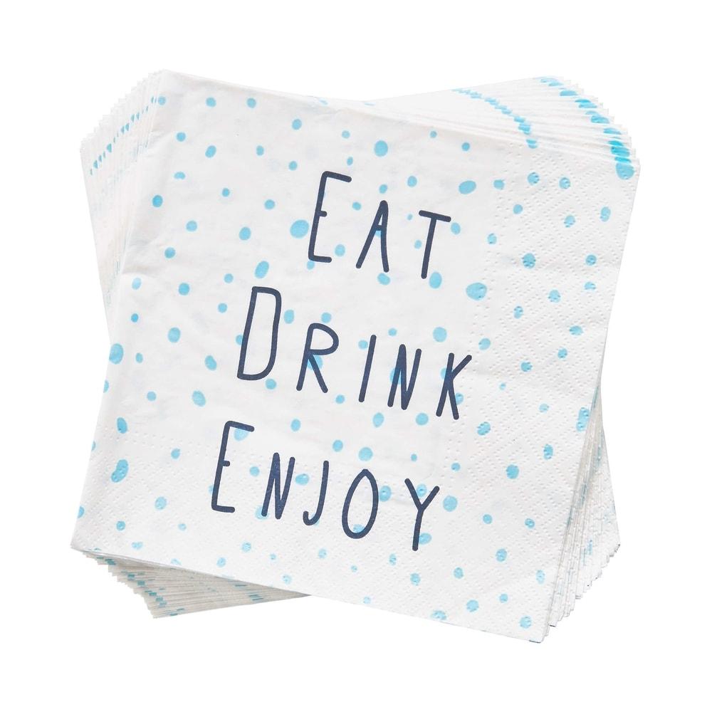 "APRÈS Papírové ubrousky ""Eat Drink Enjoy"" 20 ks"