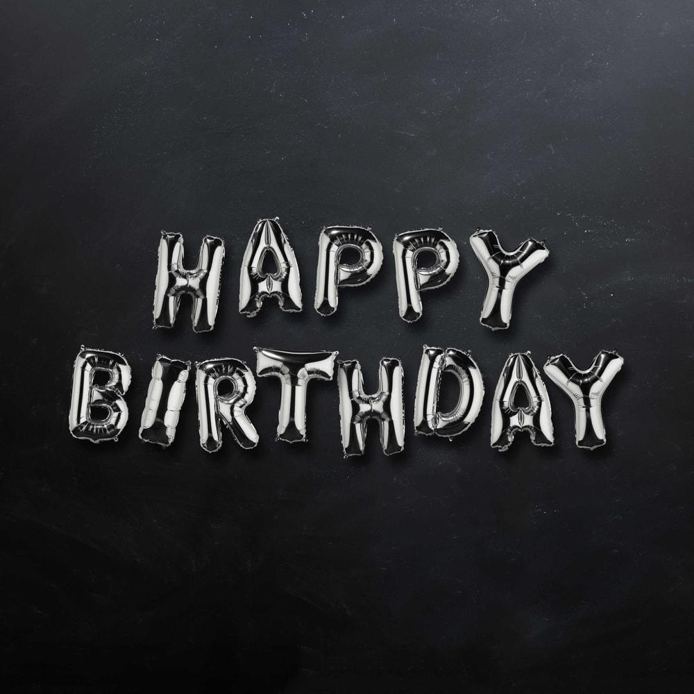 "Produktové foto UPPER CLASS Fóliový balónek ""HAPPY BIRTHDAY"" - stříbrná"