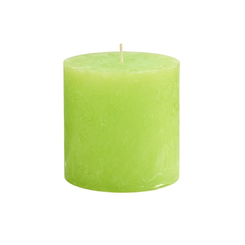 RUSTIC Svíčka 10 cm - sv. zelená