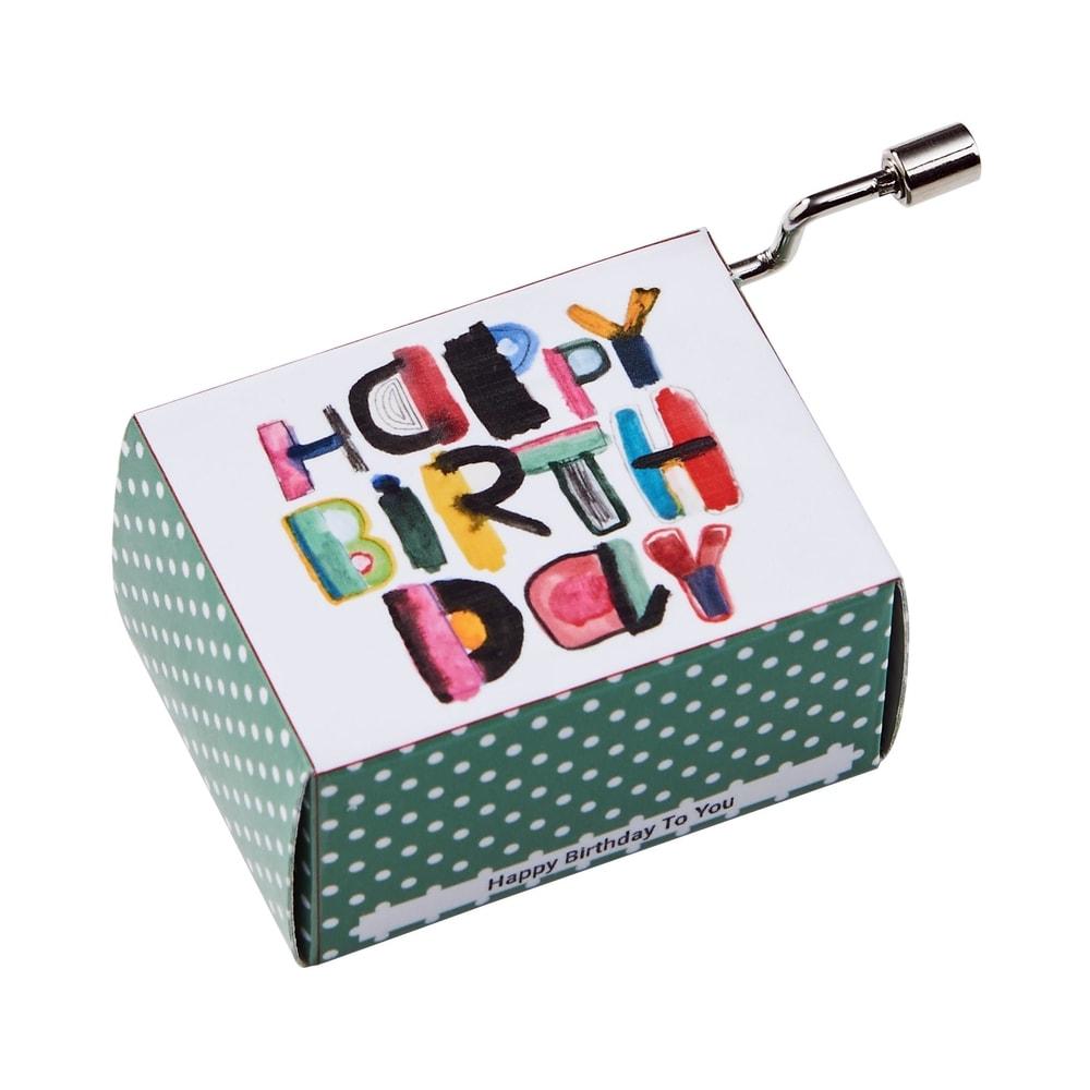 Fotografie SING A SONG Hrací skříňka Happy Birthday moderní