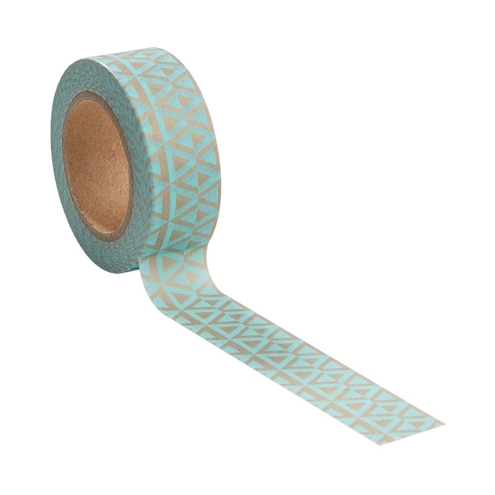TAPE Lepicí páska geometrický vzor - tyrkysová