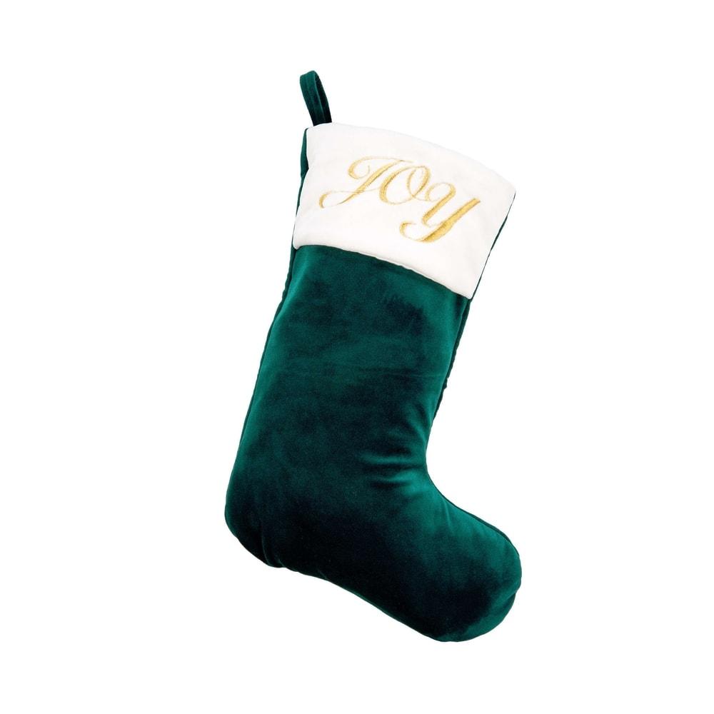 X-MAS Vánoční punčocha Joy - zelená