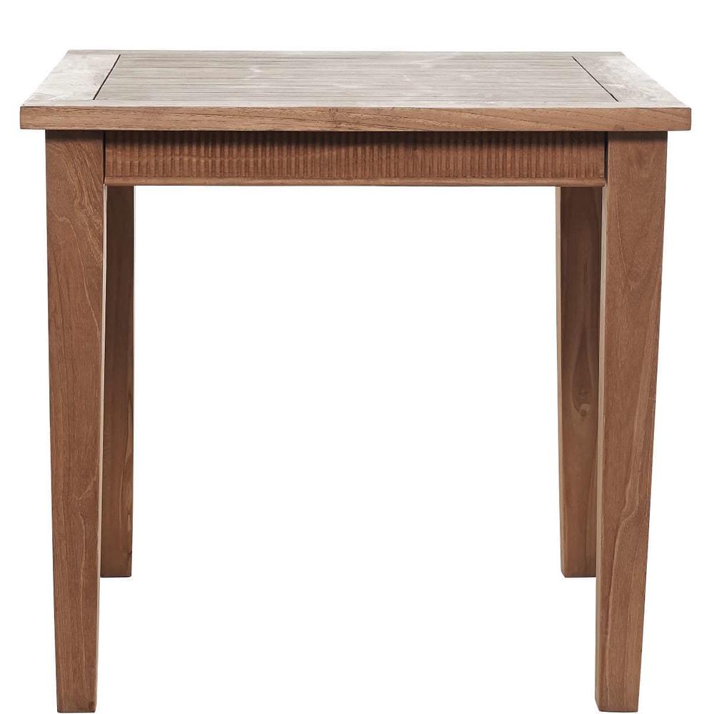 TEAK TIME Dřevěný stůl s řezbou