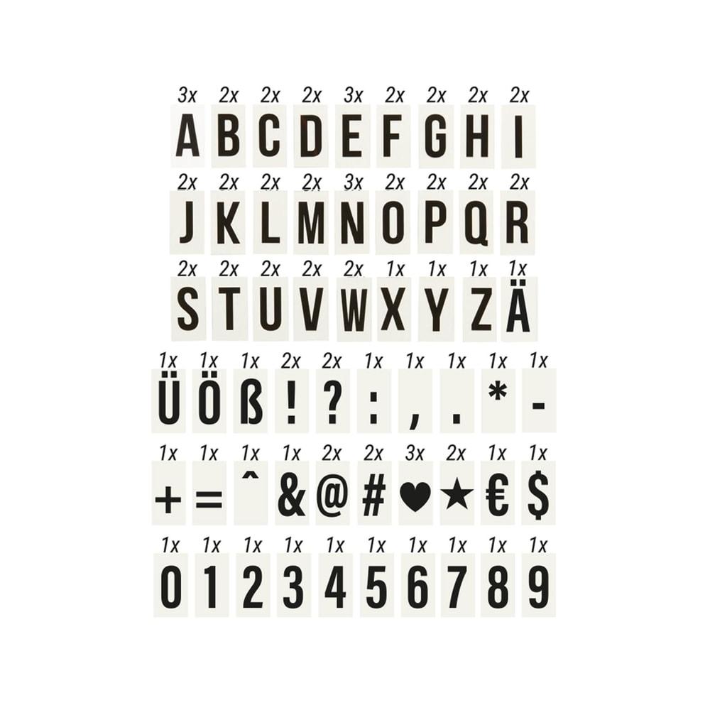 BLOCKBUSTER Sada písmen pro světelný box A7 90 ks