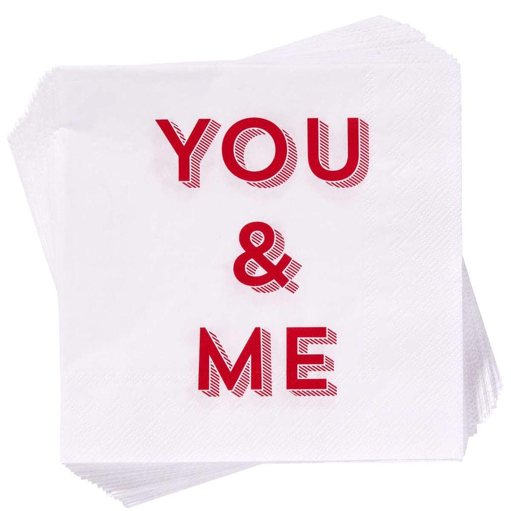 "APRÉS Papírové ubrousky ""You & Me"""