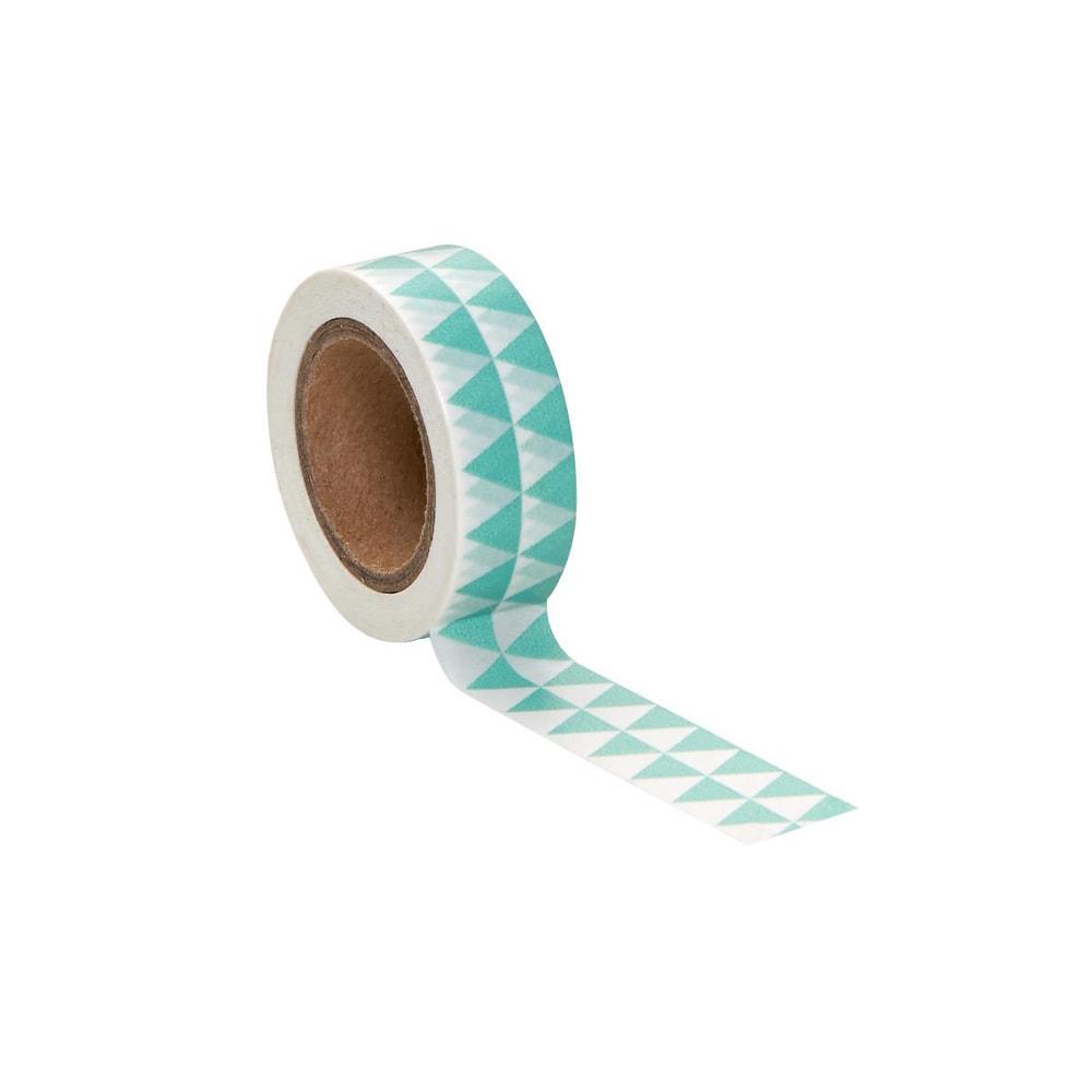 TAPE Lepicí páska trojúhelník - zelená/bílá
