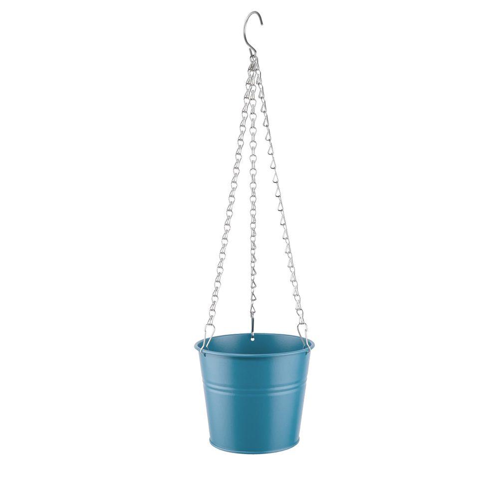 ZINC Závěsný květináč 13,9 cm - modrá