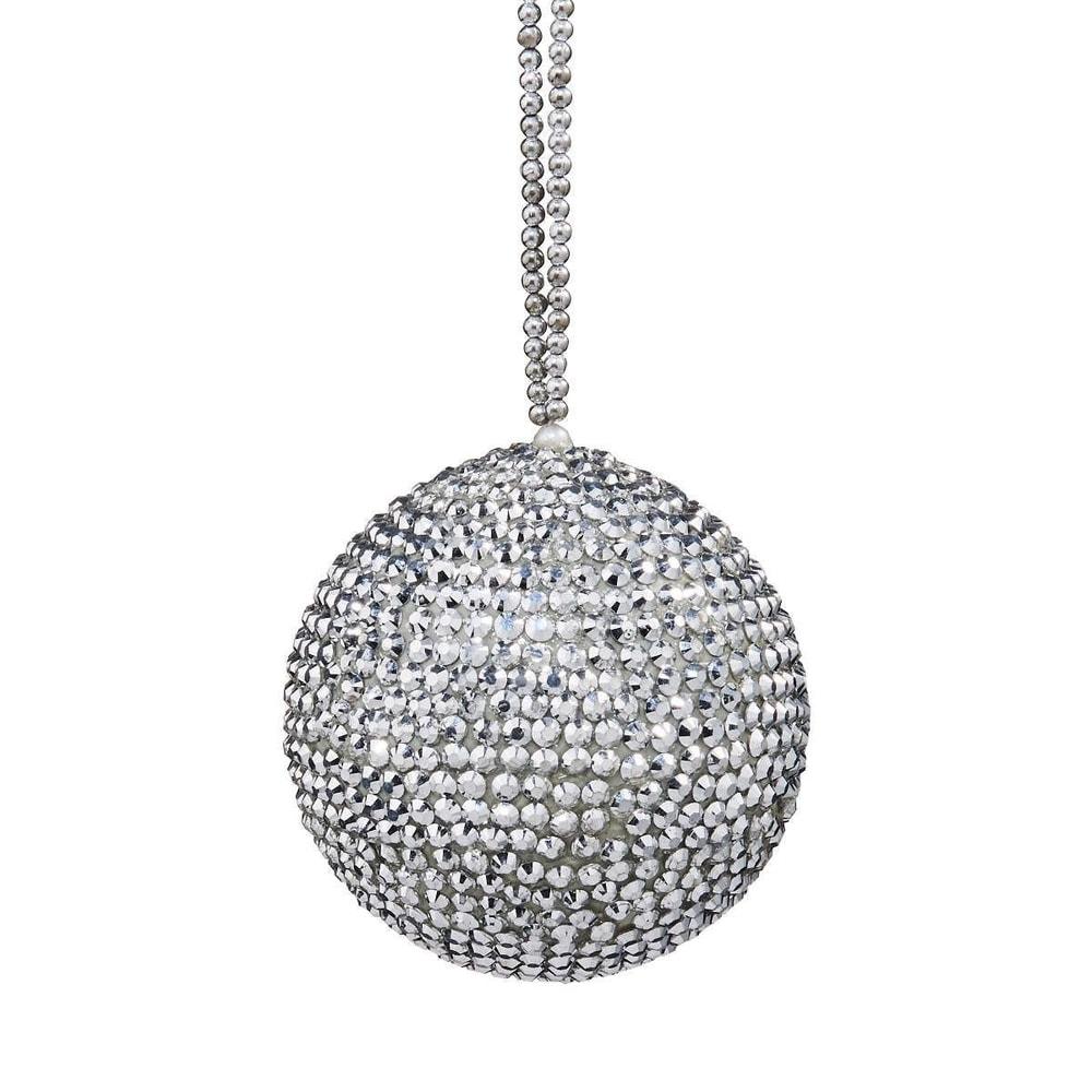 HANG ON Vánoční koule s krystaly 7 cm
