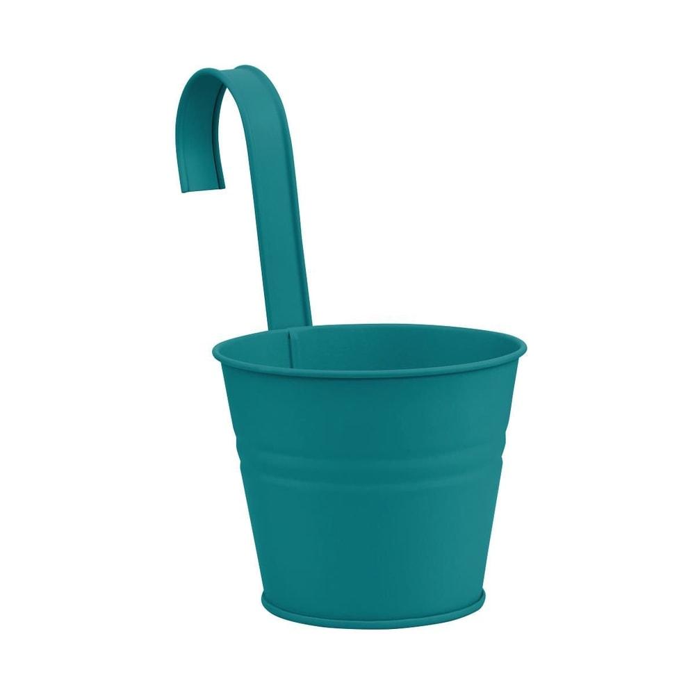 ZINC Závěsný květináč 16 cm - petrolejová