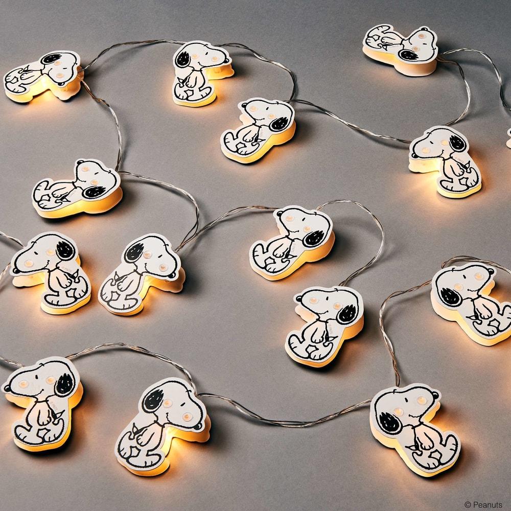 Produktové foto PEANUTS LED Světelný řetěz papírový 20 světel - bílá