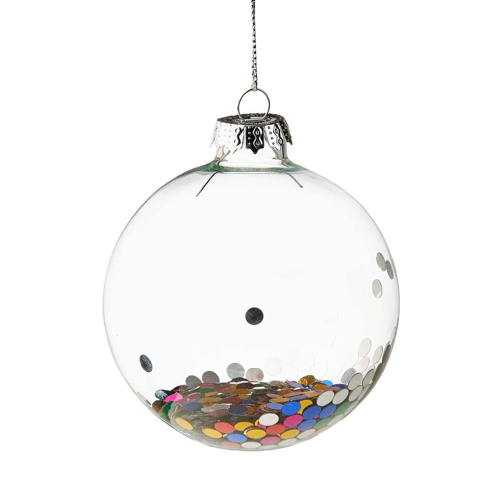 HANG ON Vánoční koule konfety 8 cm