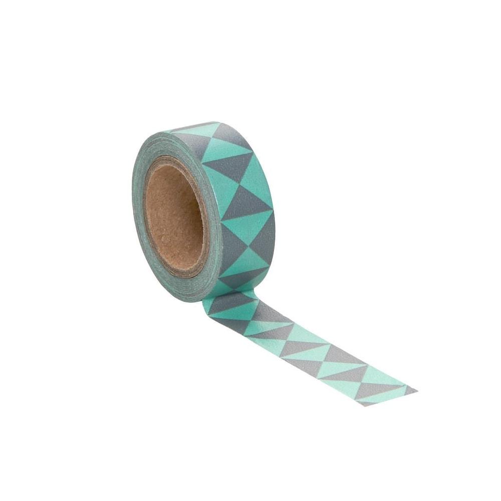 TAPE Lepicí páska grafický vzor - zelená/šedá
