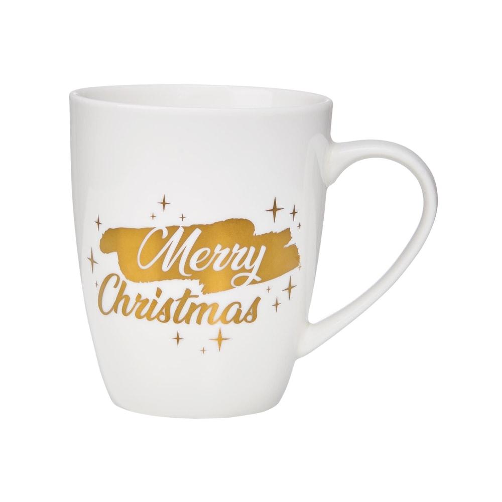 """Produktové foto WHITE XMAS Hrnek """"Merry Christmas"""" 350 ml"""