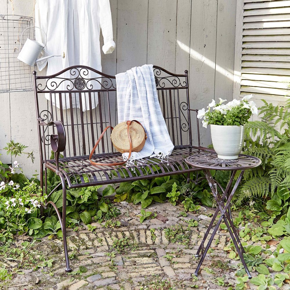 Produktové foto TERRACE HILL Zahradní stolek - tm. hnědá