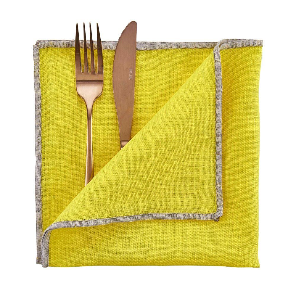 COLOUR THERAPY Látkový ubrousek 42 x 42 cm - žlutá