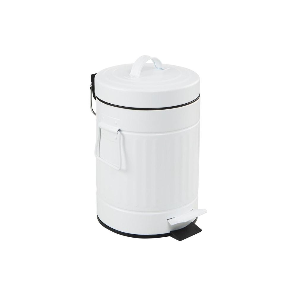 KICK IT Odpadkový koš nášlapný 3 l - bílá