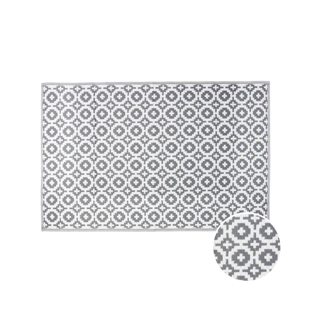 COLOUR CLASH Venkovní koberec mozaika 150 x 90 cm - šedohnědá