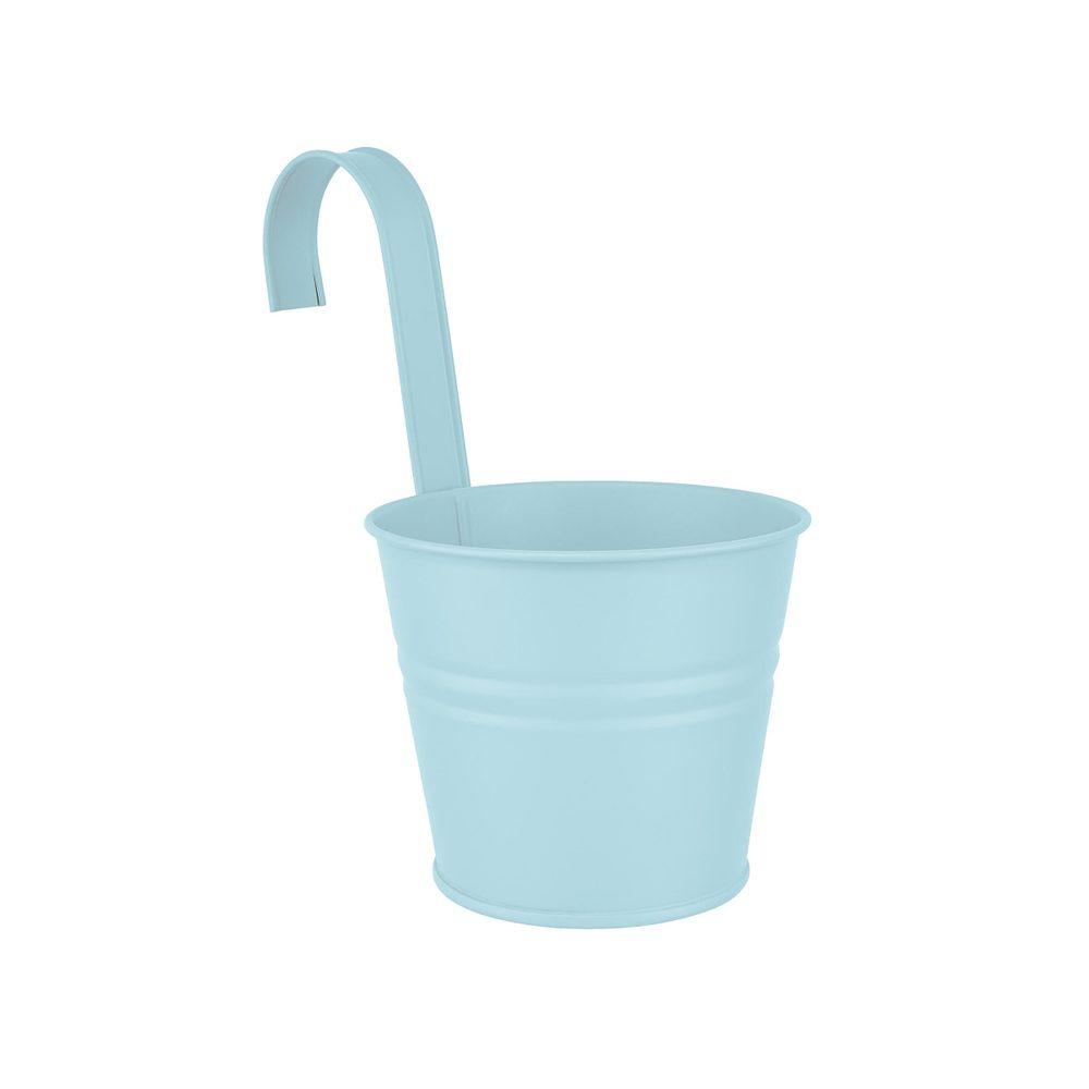 ZINC Závěsný květináč 13 cm - sv. modrá