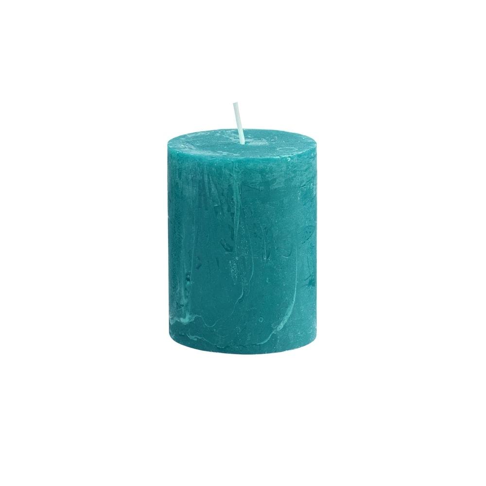 RUSTIC Svíčka 9 cm - petrolejová